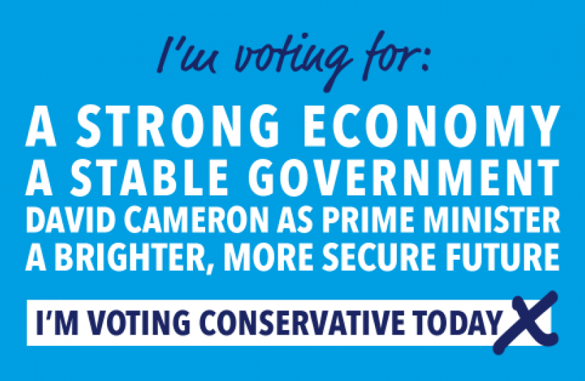 Vote Conservative today